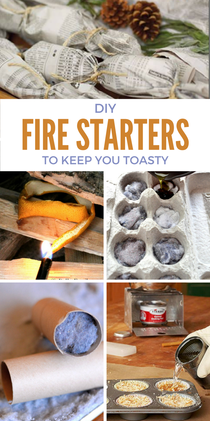 15 DIY Fire Starters to Keep You Toasty