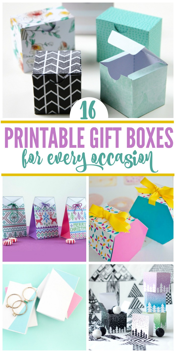 graphic about Printable Gift Box named 16 Free of charge Printable Reward Bins for Very last Second Wrappers