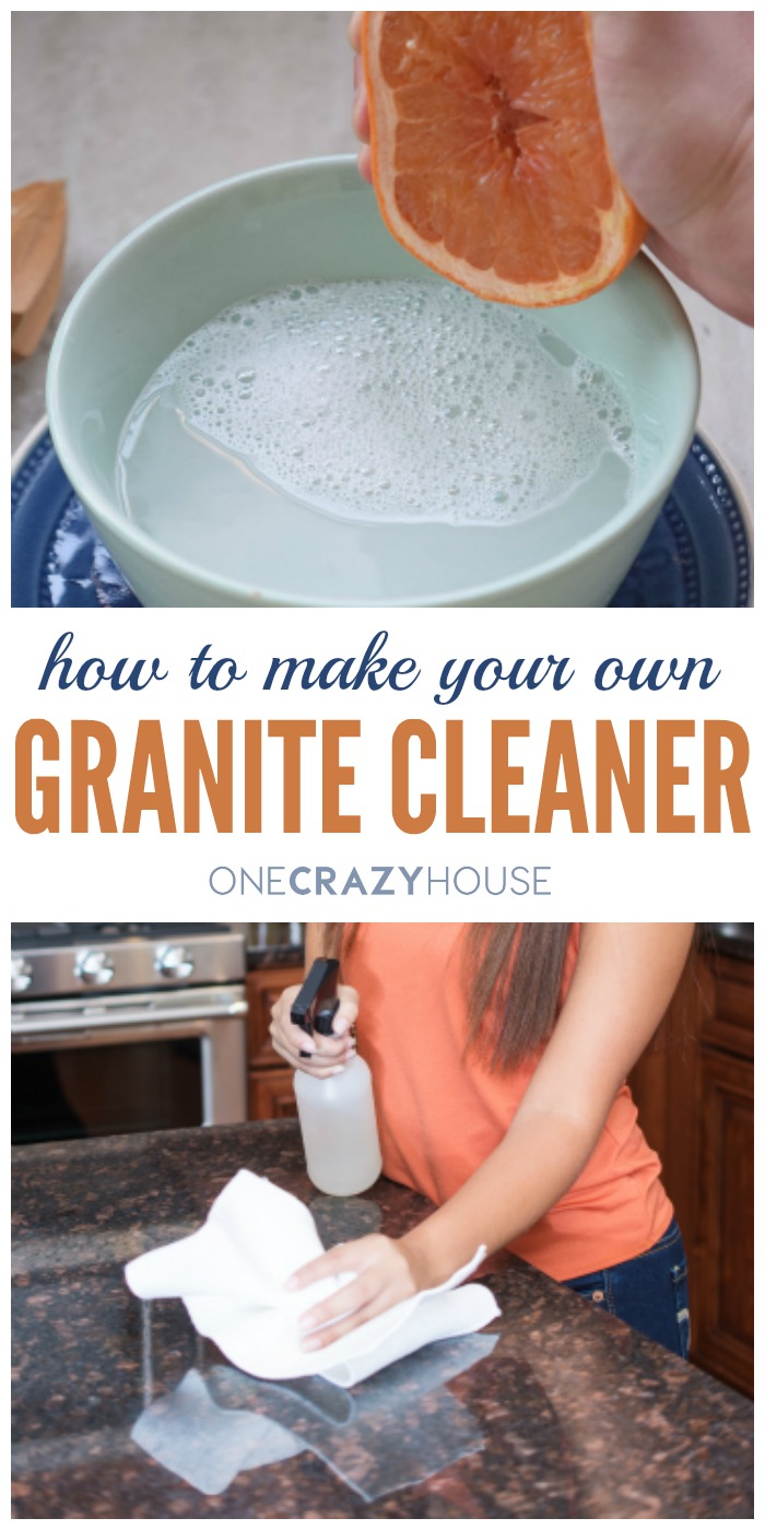 How to Make Granite Cleaner - a diy recipe for sparkling granite countertops