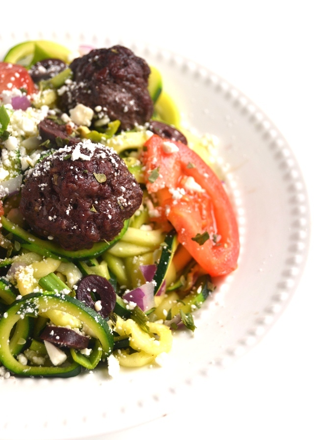 greek-meatball-zoodle-bowls