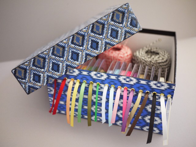 16 outside the box ways to use shoeboxes ribbon organizer solutioingenieria Image collections