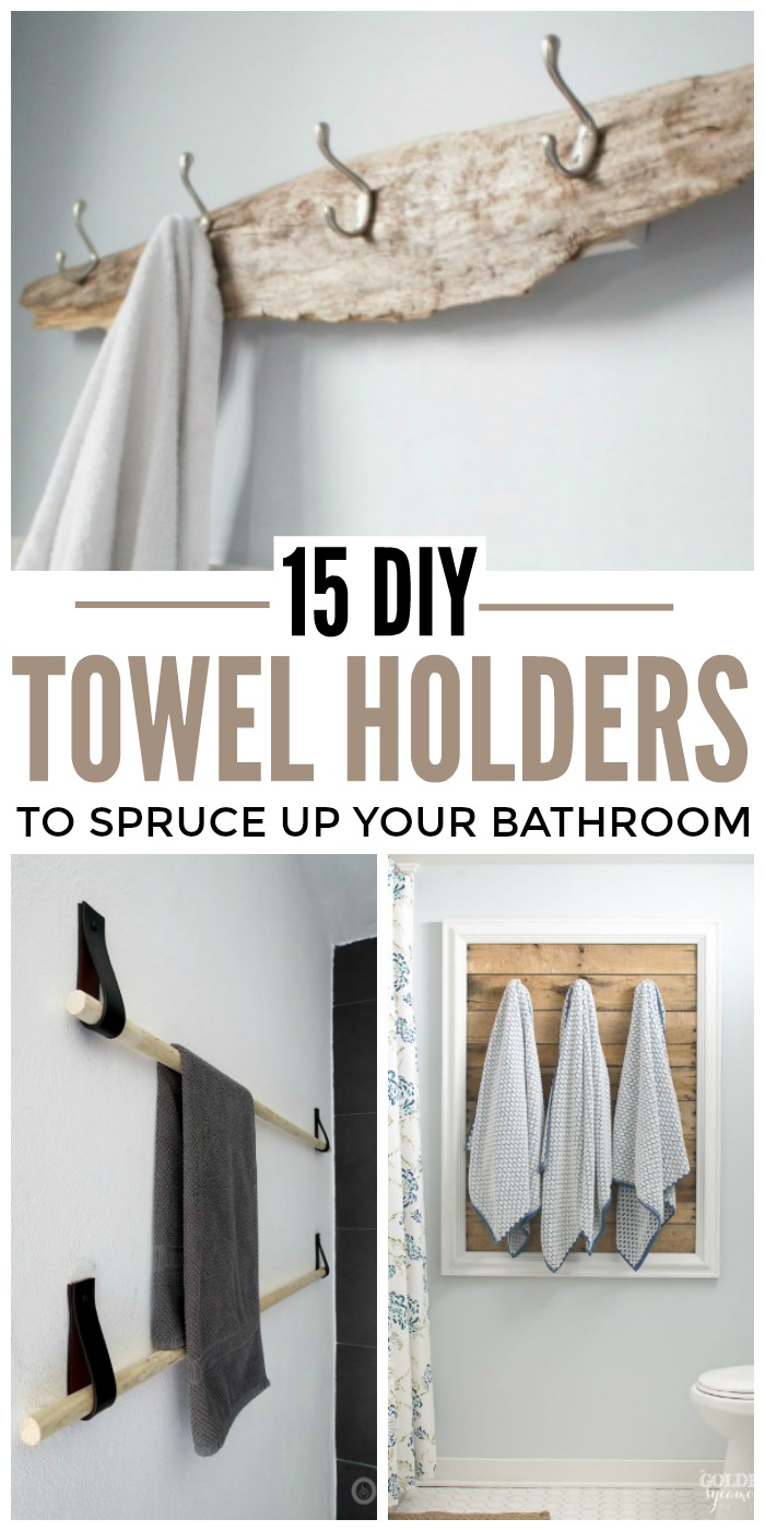 Bathroom Towel Rack Ideas.15 Diy Towel Holders To Spruce Up Your Bathroom