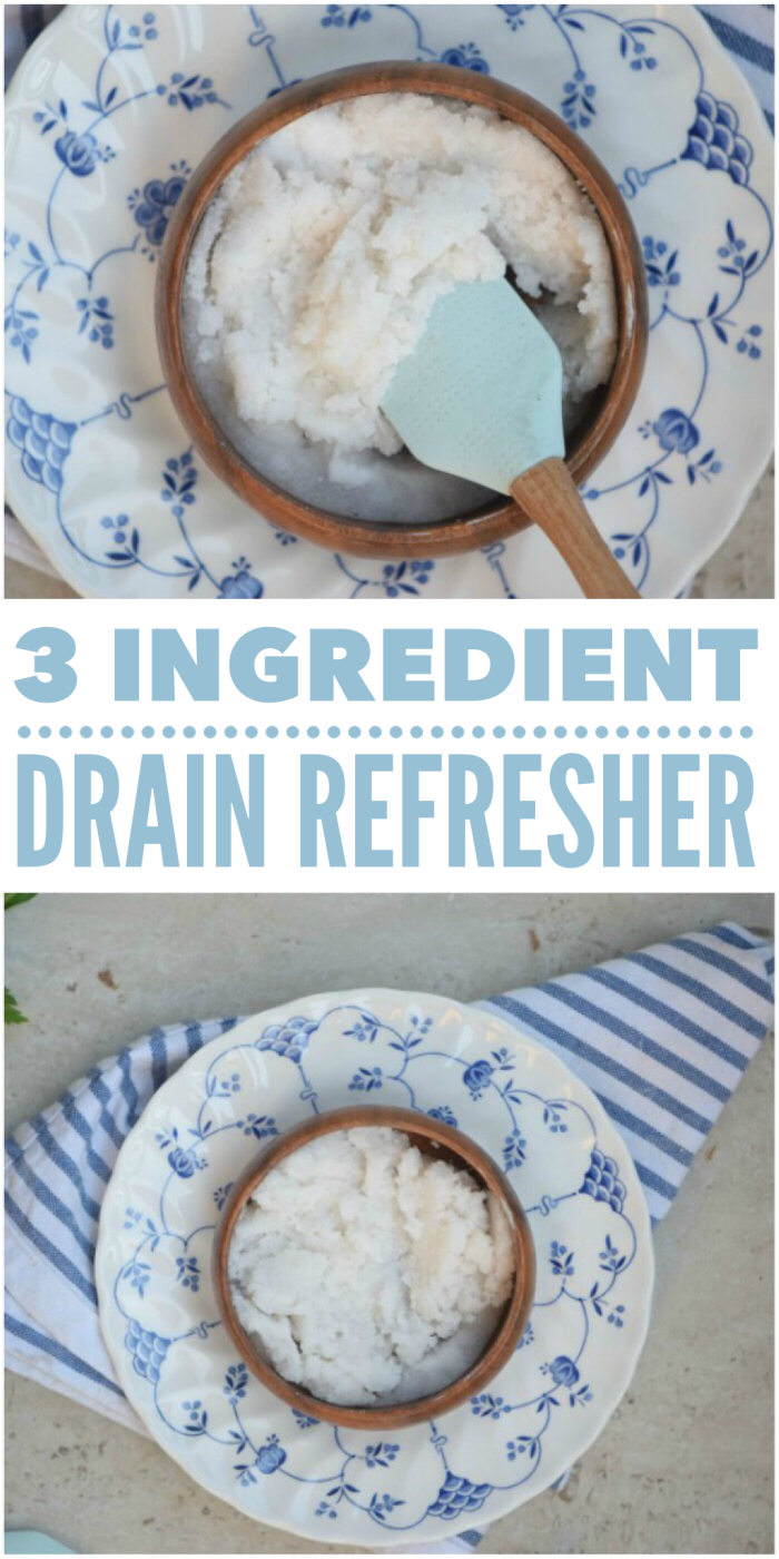 This easy 3 ingredient drain refresher can de-stink your drain in a flash!