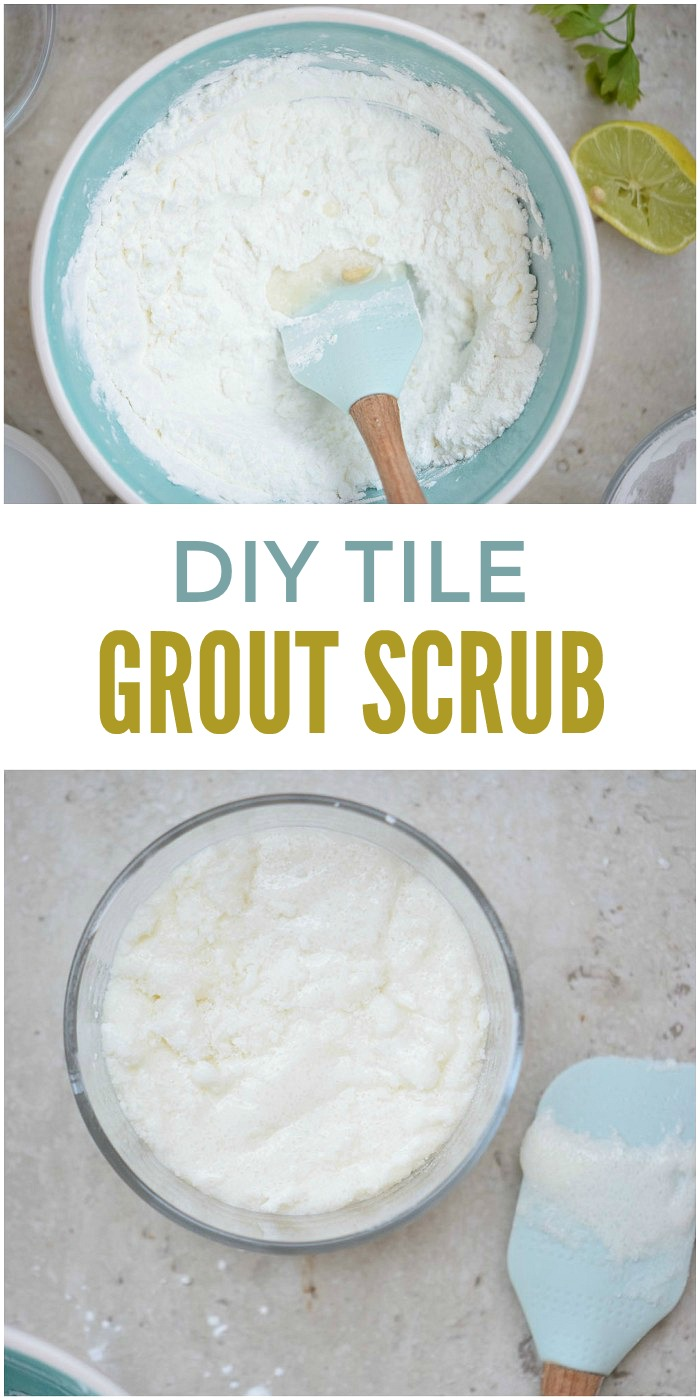 diy tile grout scrub recipe for the cleanest grout ever!