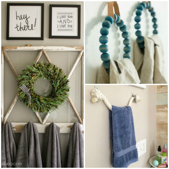 Diy Towel Holders To Fancy Up Your Bathroom