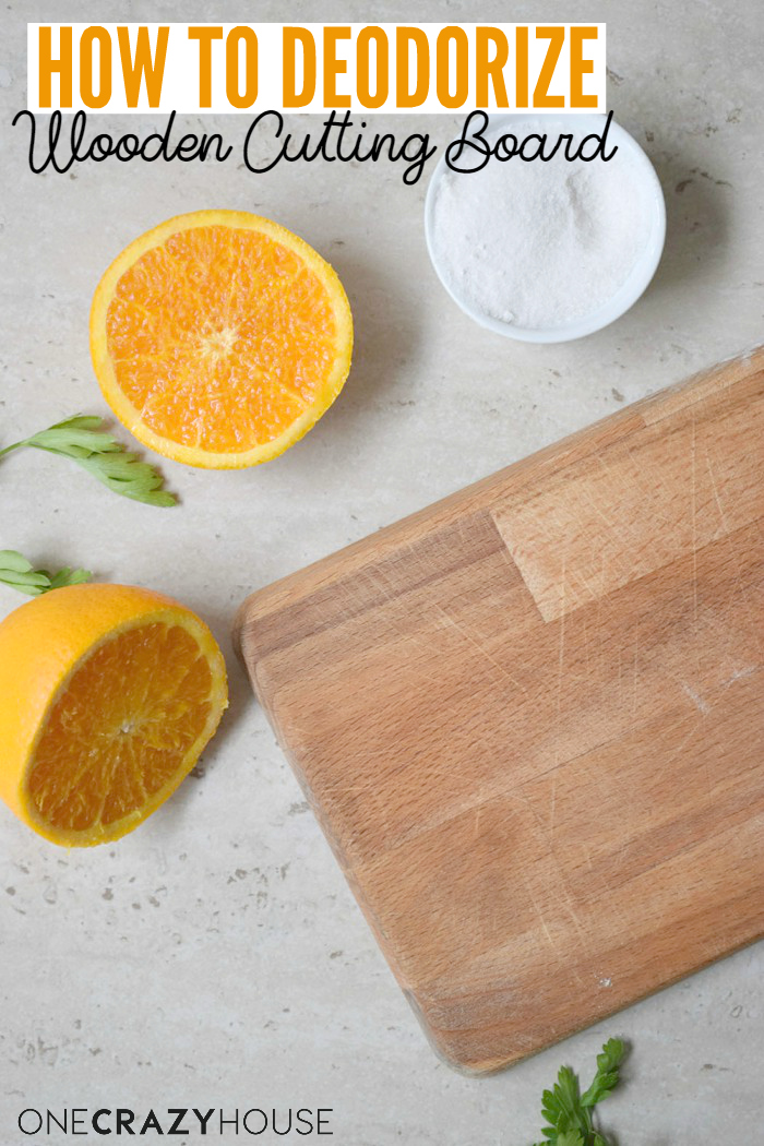 Simple way to deodorize wooden cutting boards.