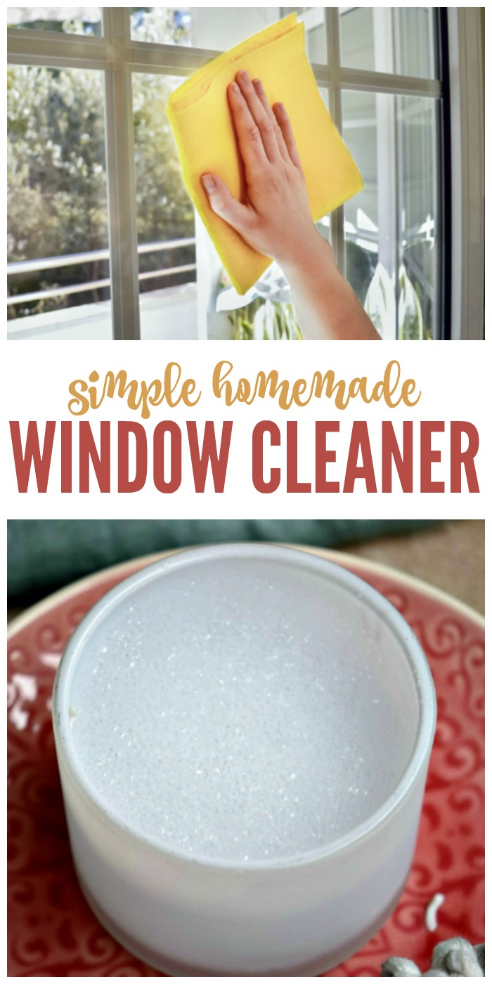 Simple Homemade Window Cleaner Recipe