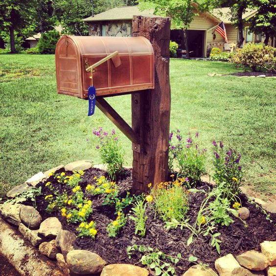copper-mailbox-on-barn-beam