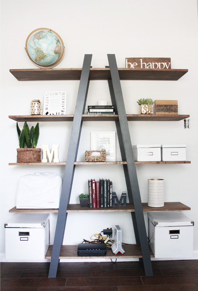 diy-ladder-shelf