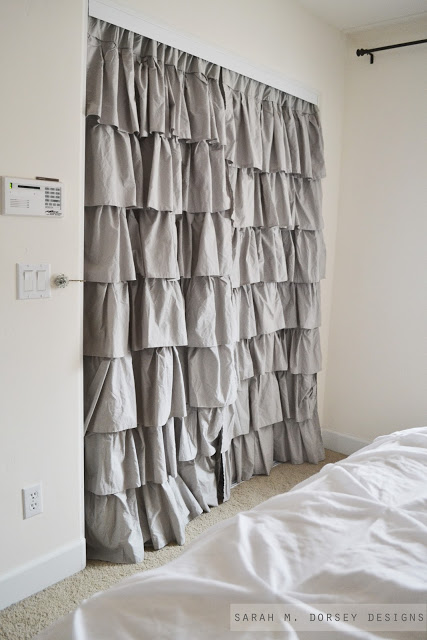 Exceptional Drapes On Closet Doors
