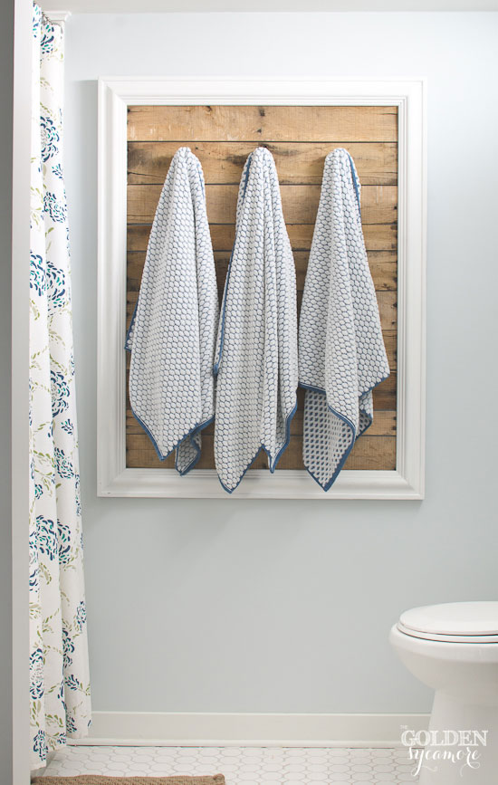 Framed Pallet Board Towel Holder