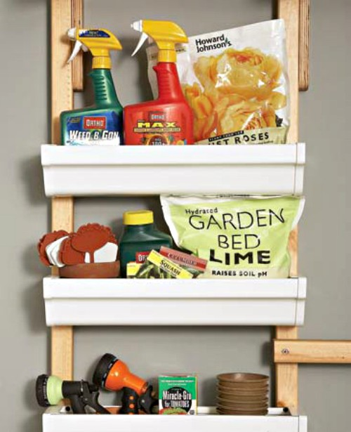 15 Creative Rain Gutter Ideas For Organization Amp Storage