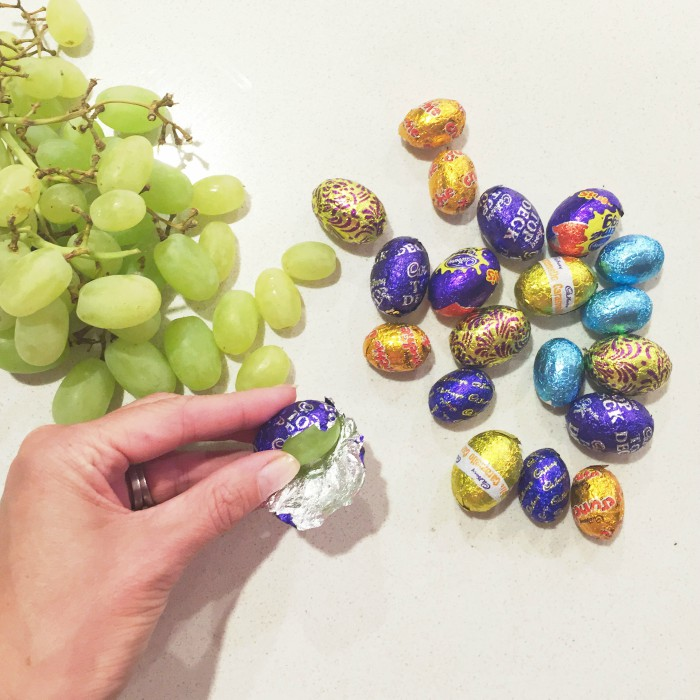 grapes-in-easter-egg-wrappers