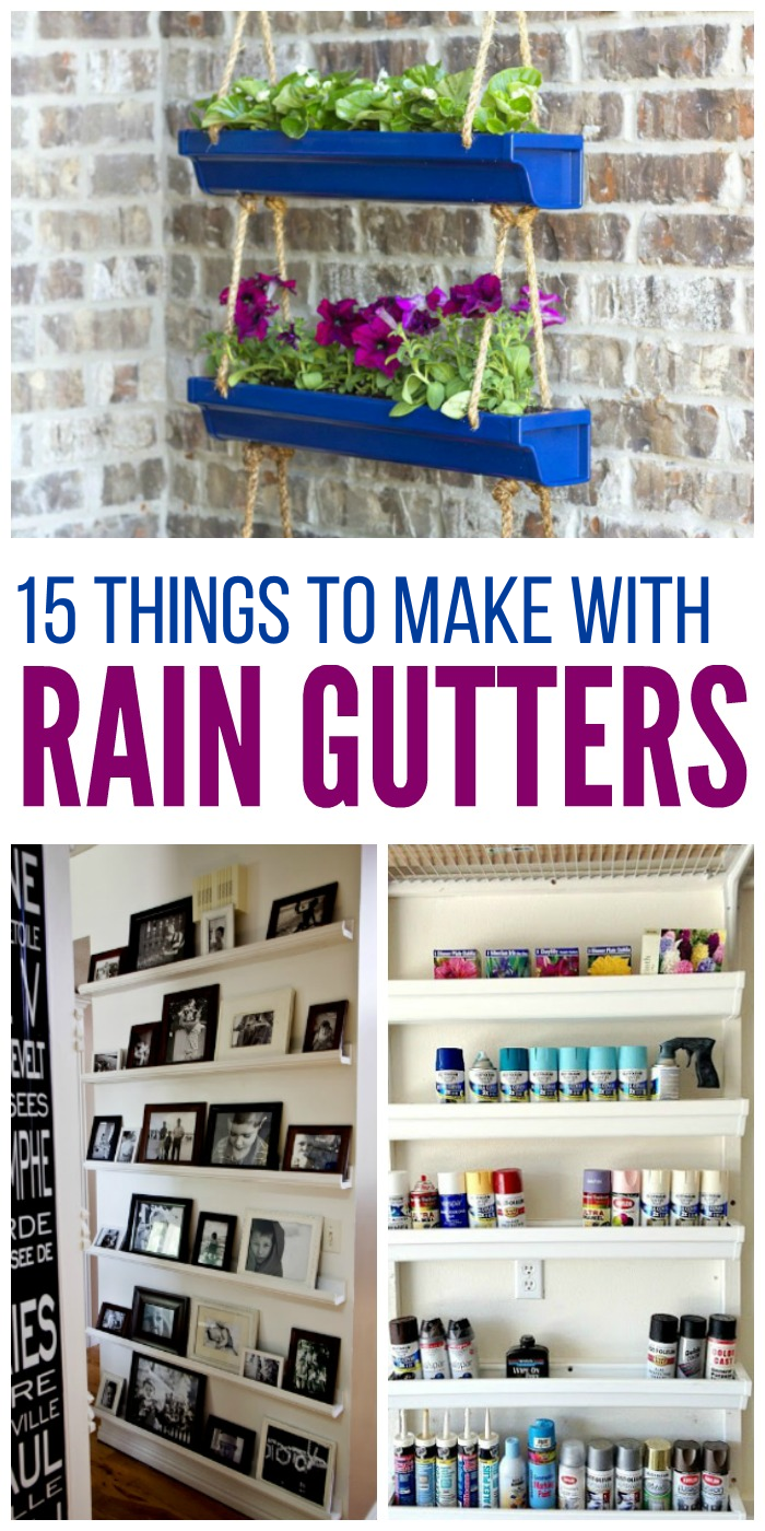 Get creative with these fun rain gutter ideas!