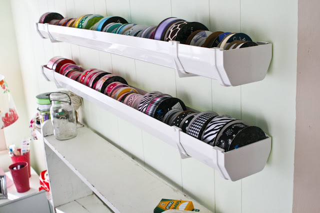 15 Creative Rain Gutter Ideas For Organization Storage