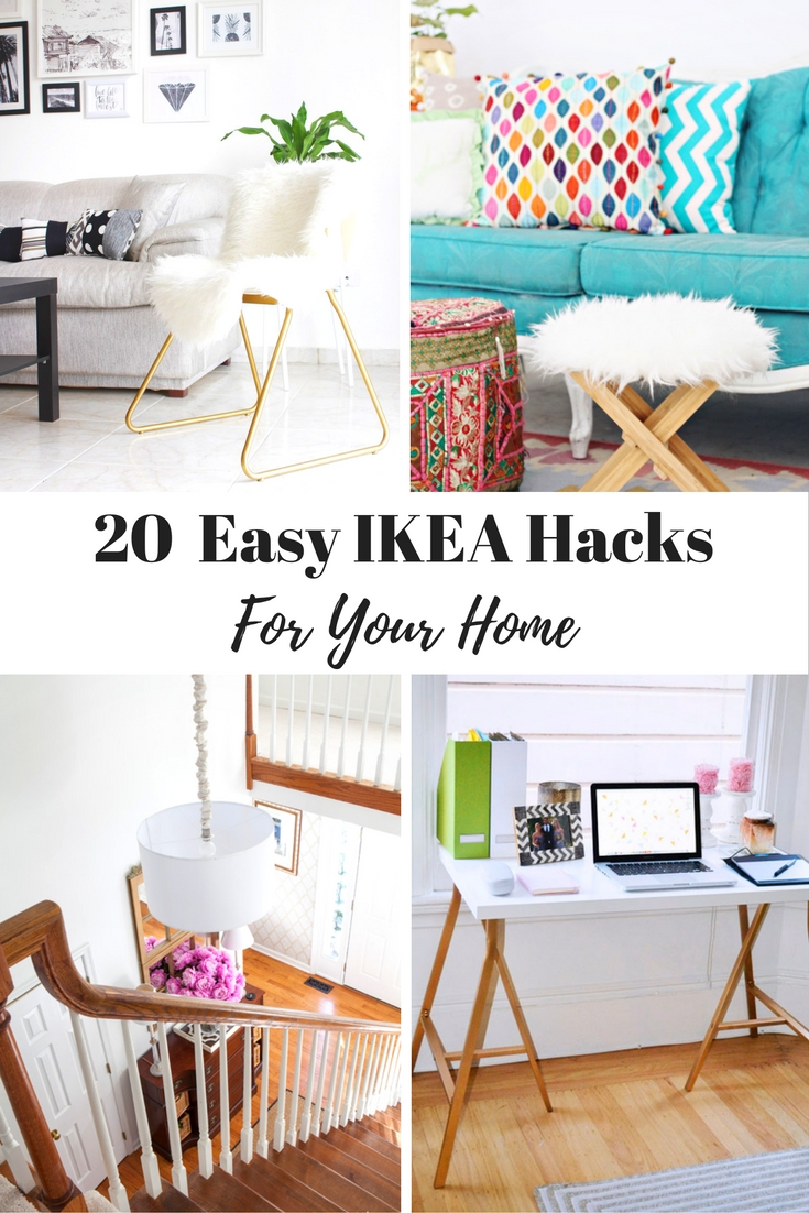 From re-purposing to personalizing, these Ikea Hacks area easy and fun!