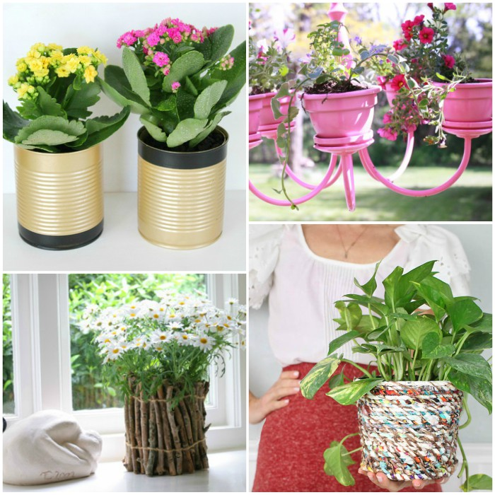 ... 19 Genius Garden DIYs You\u0027ve Never Thought Of  sc 1 st  One Crazy House & 16 DIY Flower Pots to Get You Giddy About Gardening