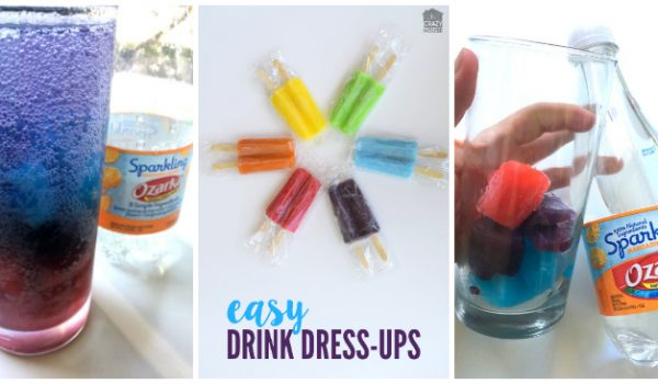 Rainbow Water Mocktails for Kids - Easy Drink Dress Up
