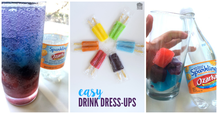 Rainbow Water Mocktails for Kids