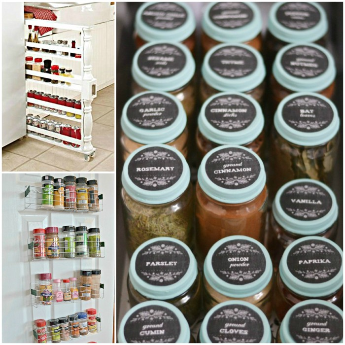 Smart and Space Saving Spice Organization Ideas