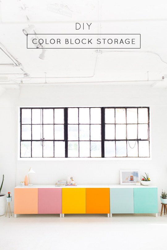 DIY Blogk Storage by Sugar & Cloth