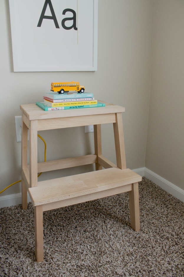 Ikea Hack Footstool to Nightstand