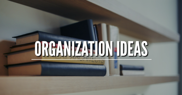 Organization Ideas on One Crazy House