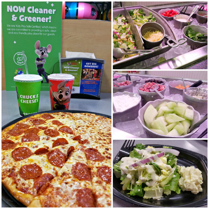 Chuck E. Cheese's Pizza and Salad