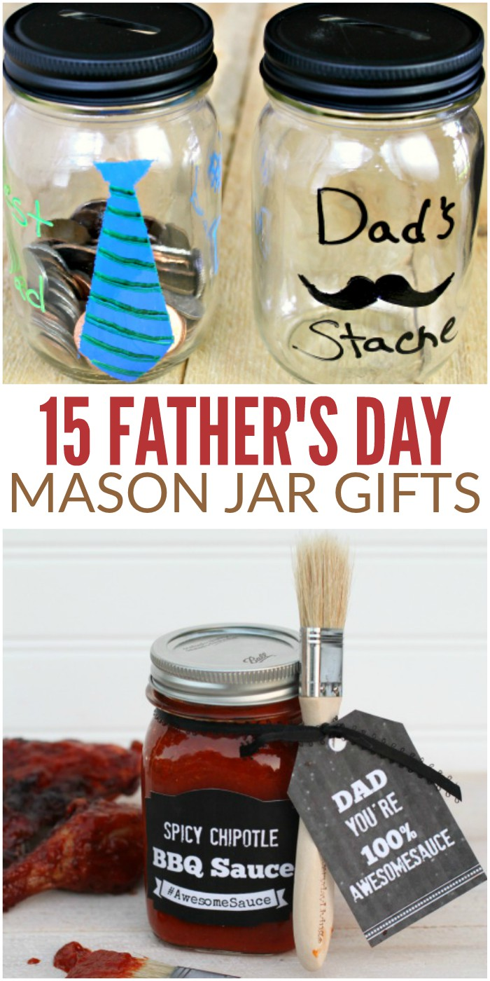 15 Father's Day Mason Jar Gifts Your Dad Would Love to Get