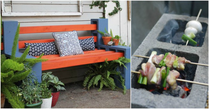15 Creative Cinder Block Projects For Your Home And Yard