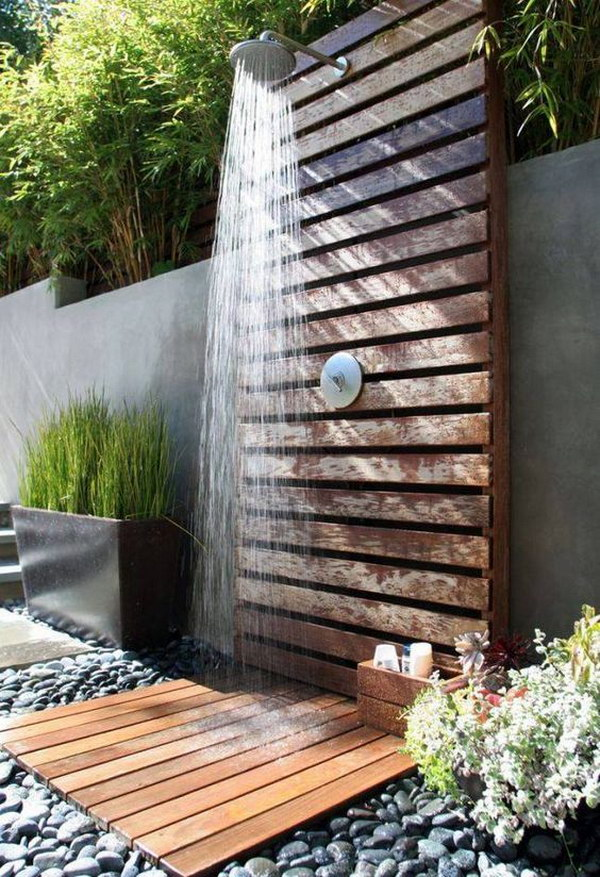 This Is A Great Project For Those With Pool Your Family Friends And Guests Can Rinse Off Before After Getting Out Of The Without Tracking