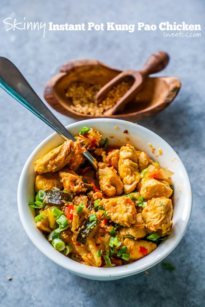 bowl of skinny kung pao chicken