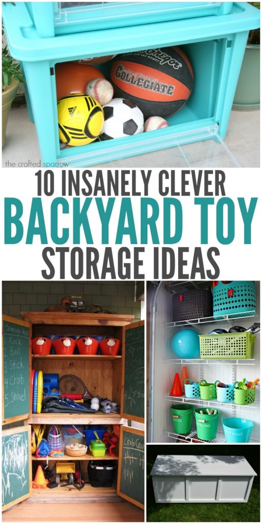 10 Insanely Clever Backyard Toy Storage Ideas