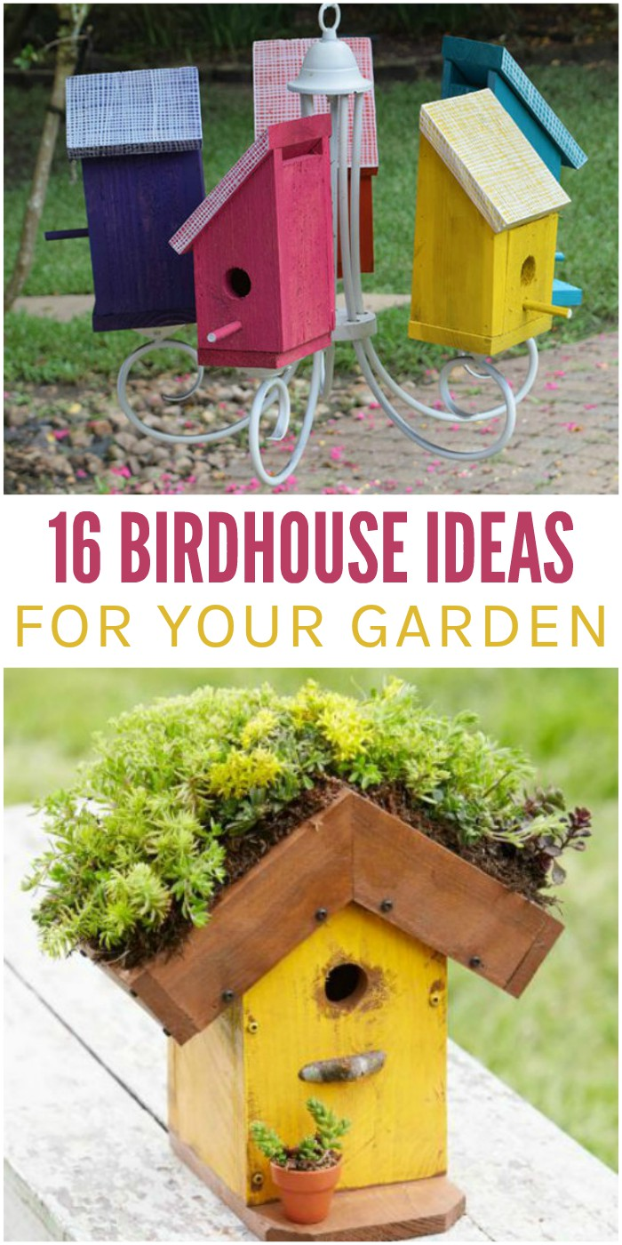 16 Super Cute Birdhouse Ideas For Your Garden