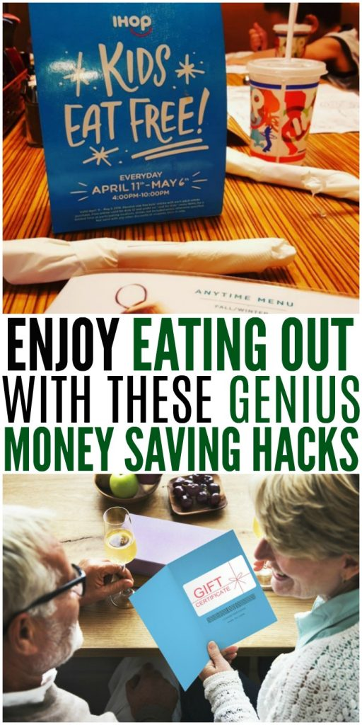 Money saving hacks for eating out