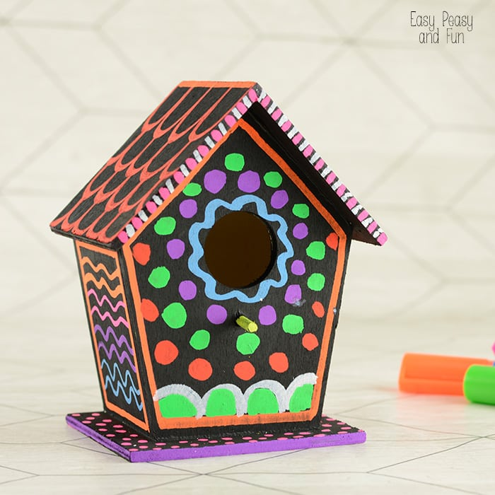 colorful birdhouse