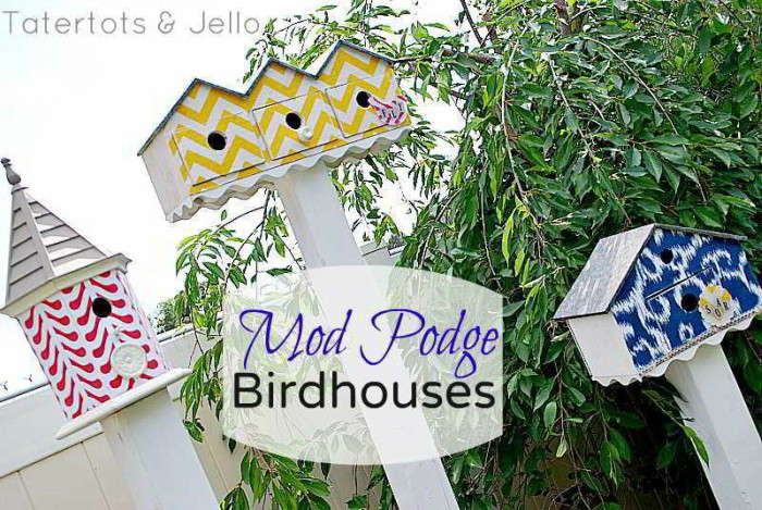 fabric covered birdhouses
