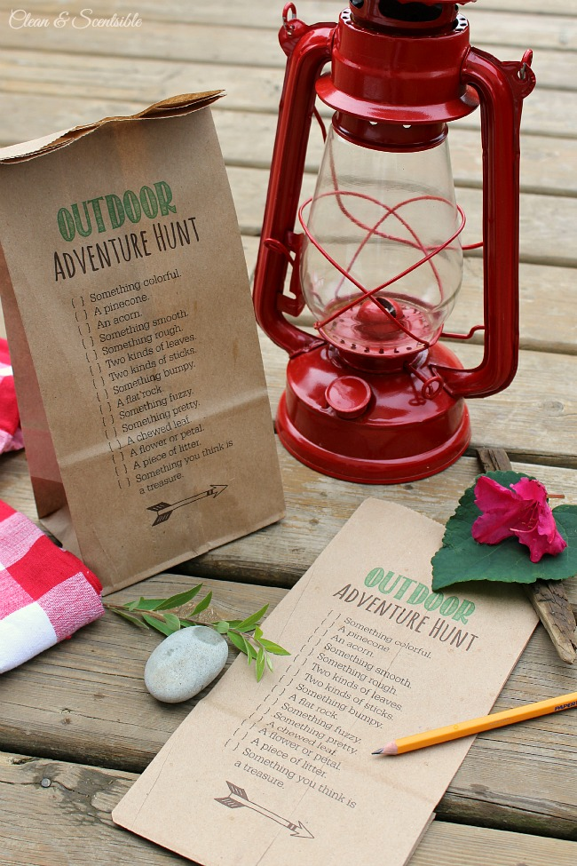 Printable-Outdoor-Scavenger-Hunt-Clean and Scentsible
