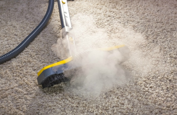 Steam clean carpets to sanitize carpets