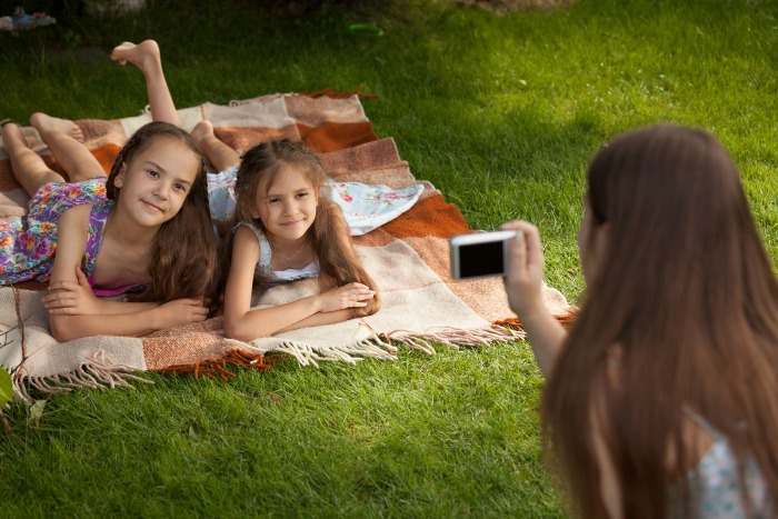 Use shade to filter sunlight - Back to School Photo Tips