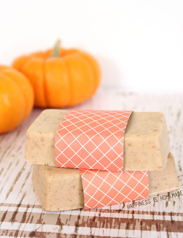 10 minute pumpkin spice soap