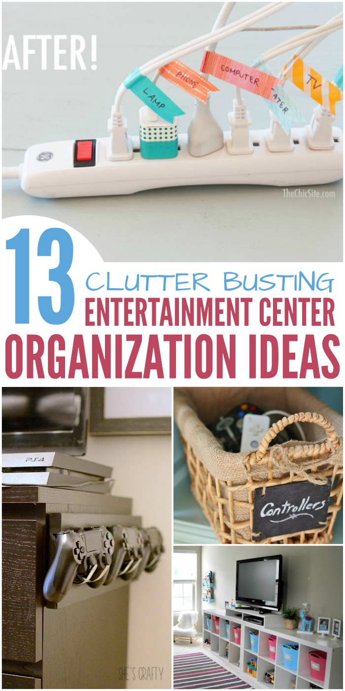 13 Clutter Busting Entertainment Center Organization Ideas