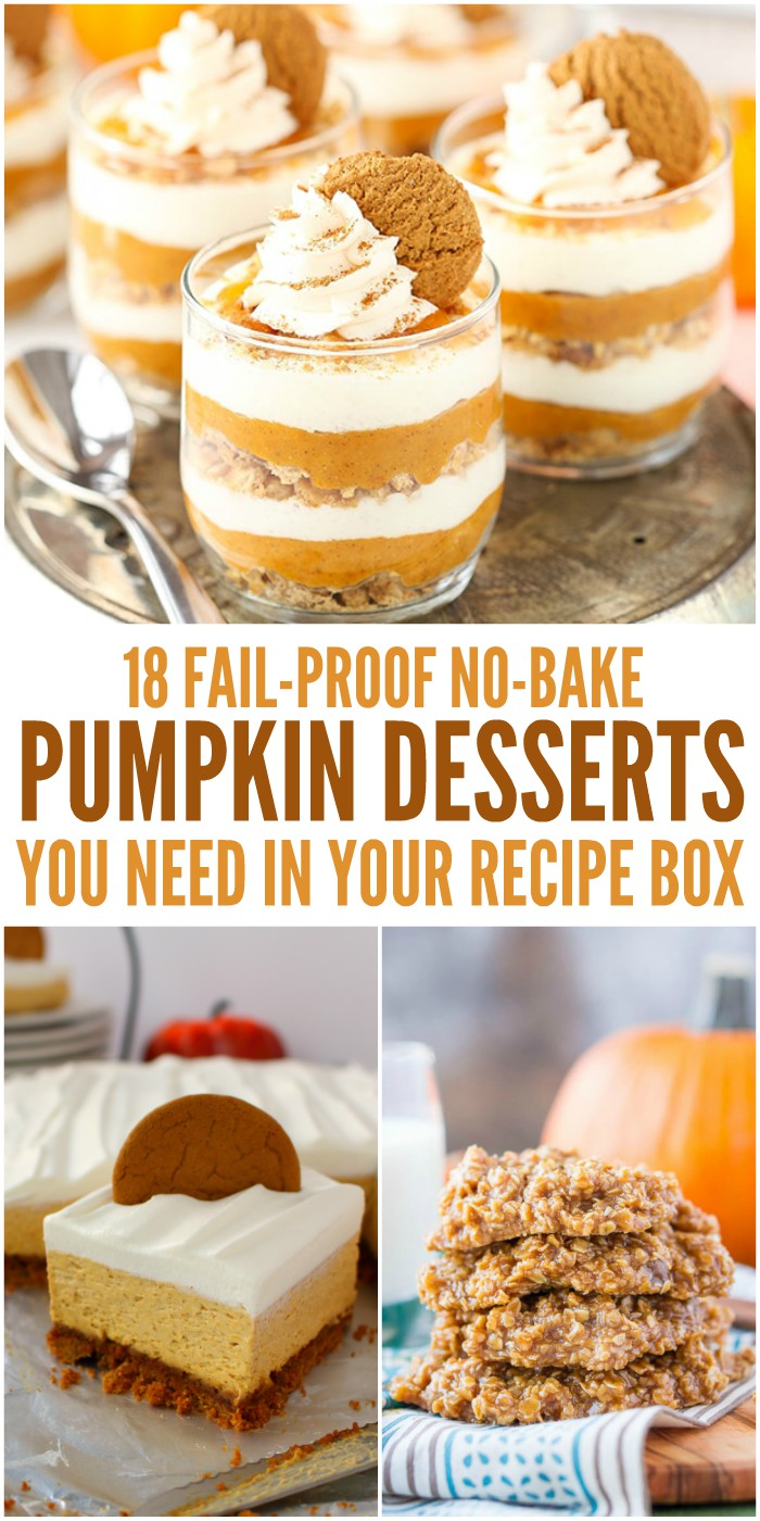 18 No Bake Pumpkin Desserts You Need in Your Recipe Box