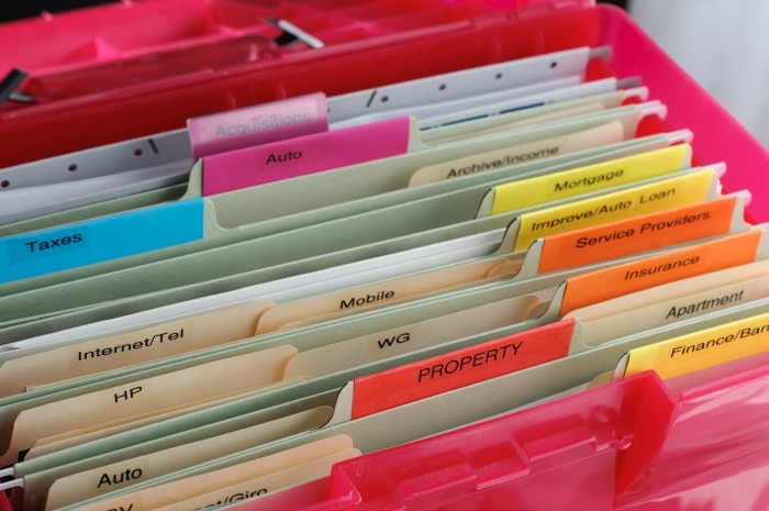 Portable Filing Box for Document Storage