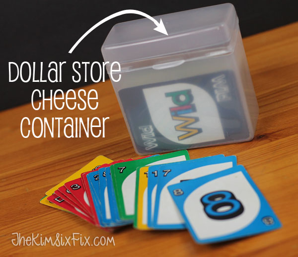 cheese container for card games