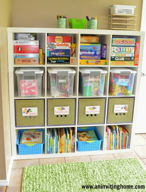17 board game storage ideas to streamline family game night. Black Bedroom Furniture Sets. Home Design Ideas