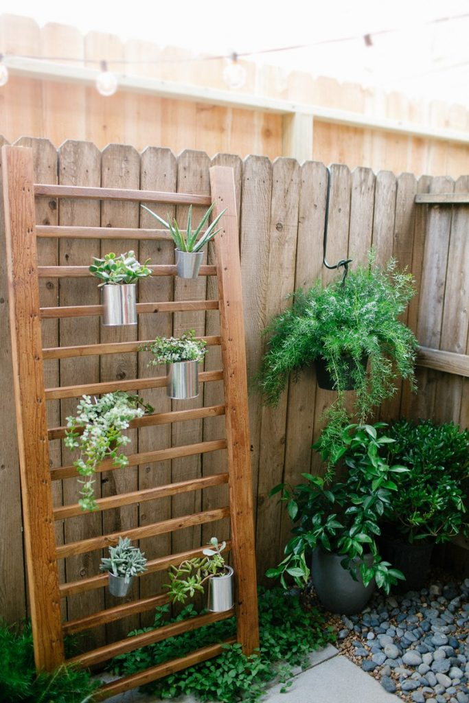 DIY OUTDOOR SUCCULENT WALL ACCENT by Sugar & Cloth