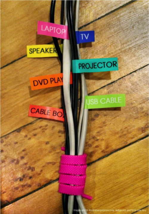 labeled cables