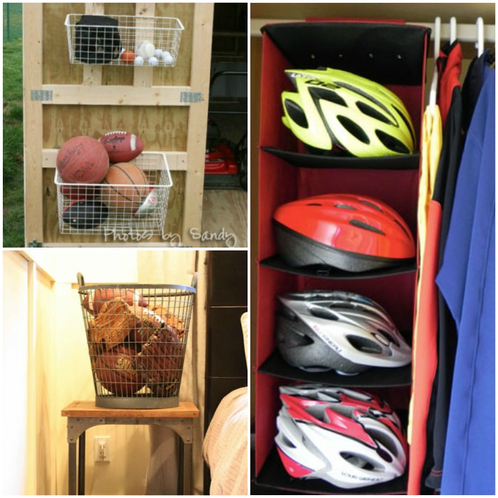 sports equipment storage tips