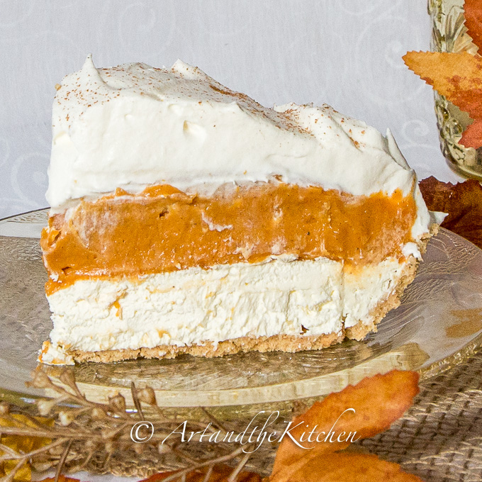 triple layer pumpkin pie